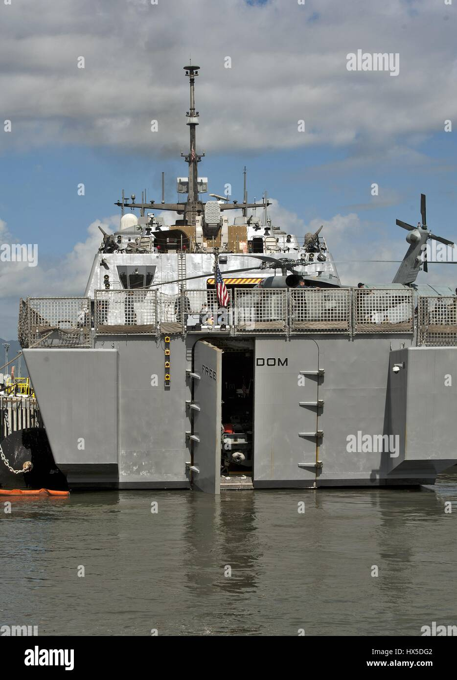 Littoral combat ship uss freedom lcs 1 arrives at joint base pearl stock photo royalty free - Uss freedom lcs 1 photos ...