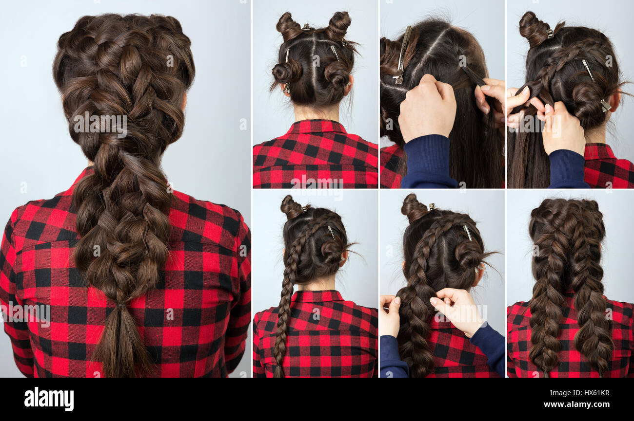 Hair tutorial hairstyle volume braid for party tutorial step by hair tutorial hairstyle volume braid for party tutorial step by step backstage technique of weaving plaits pmusecretfo Choice Image