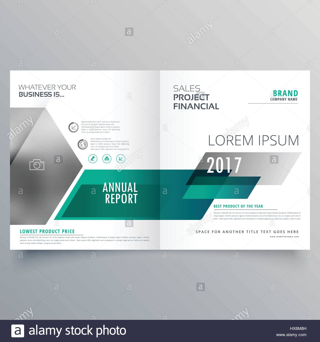 Modern Bifold Brochure Template Design For Your Brand Stock Vector - Modern brochure template
