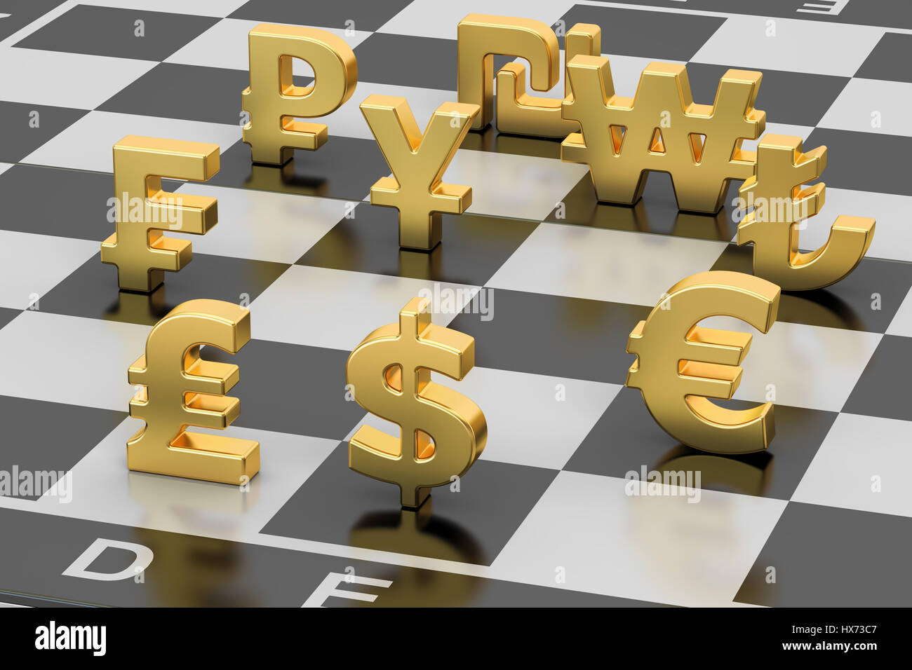 Money concept currency symbols on chess board 3d rendering stock money concept currency symbols on chess board 3d rendering biocorpaavc Gallery