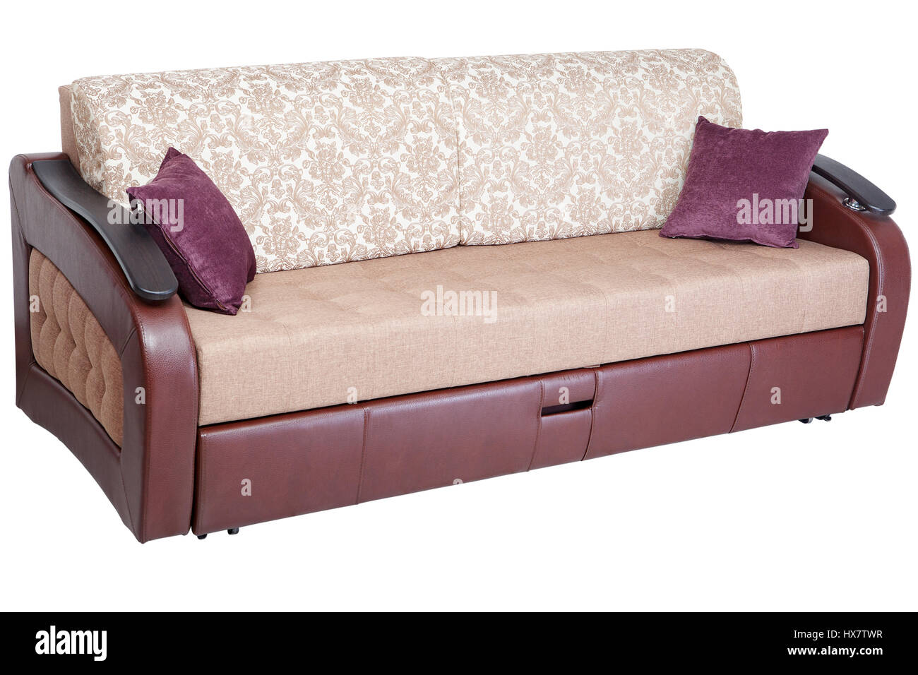 Sofa beds with storage space - Sleeper Convertible Sofa Bed Couch With Storage Space Isolated On White Background Saved Path Selection