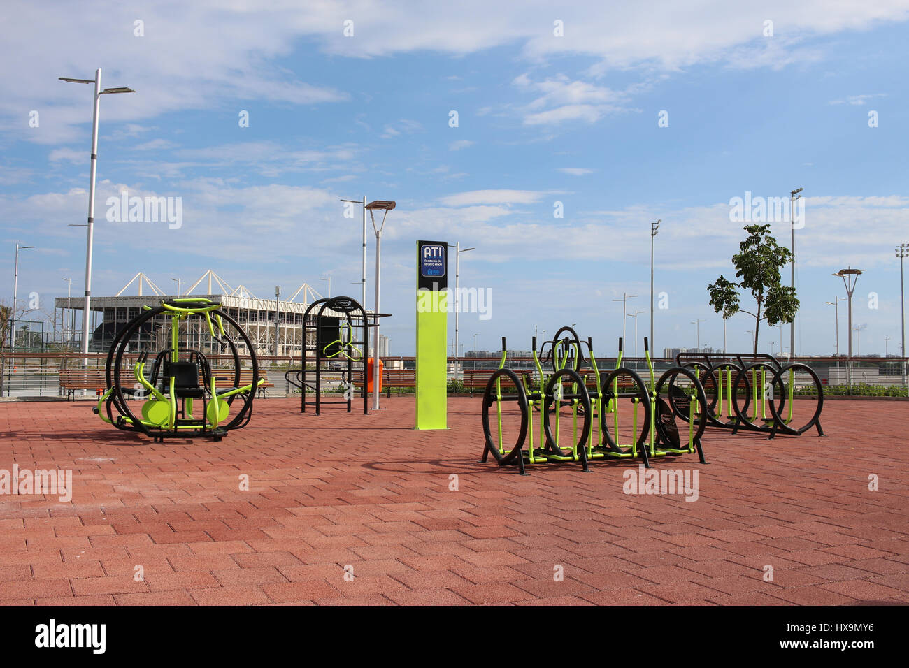 Outdoor Gym Was Set Up For Free Use Of Population As Olympic Legacy Built To