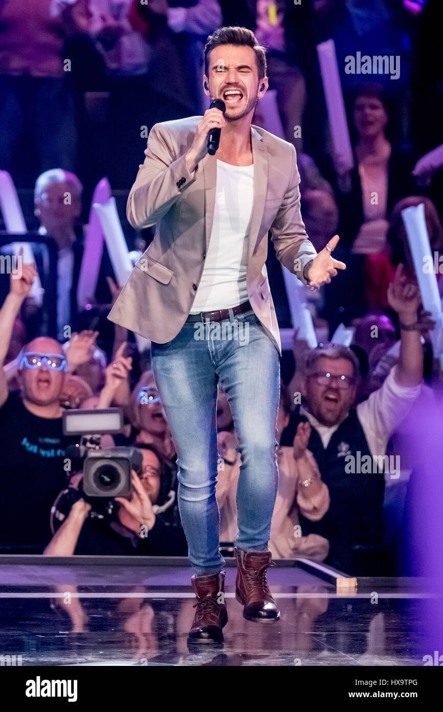 Florian Oldenburg oldenburg germany 25th mar 2017 host florian silbereisen stock