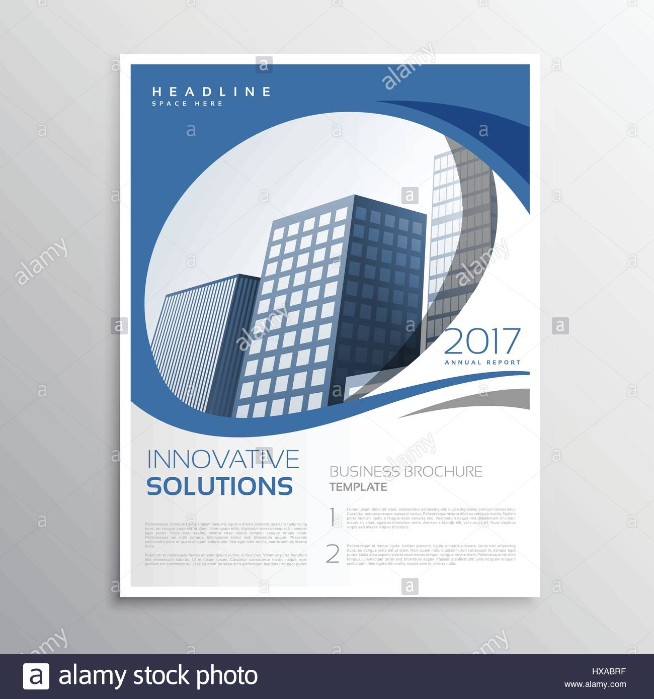 Blue Business Flyer Leaflet Annual Report Cover Page Design  Annual Report Cover Page Template
