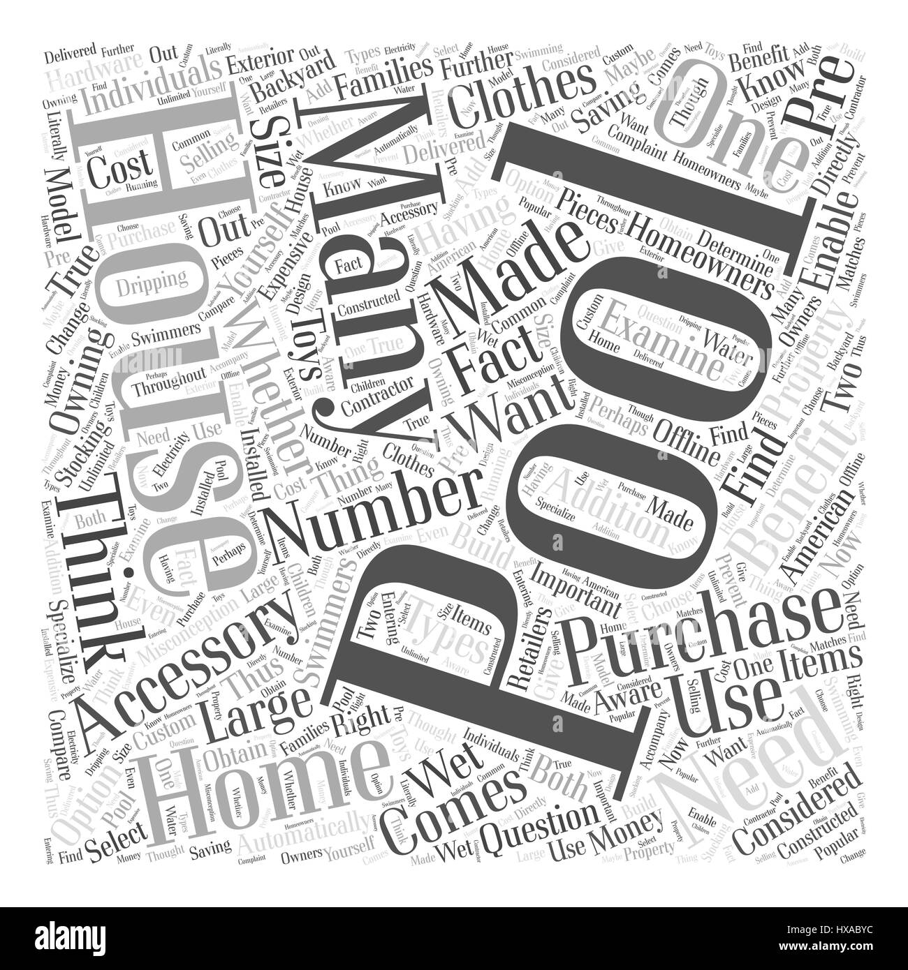 Do You Need a Pool House Word Cloud Concept Stock Vector Art ...