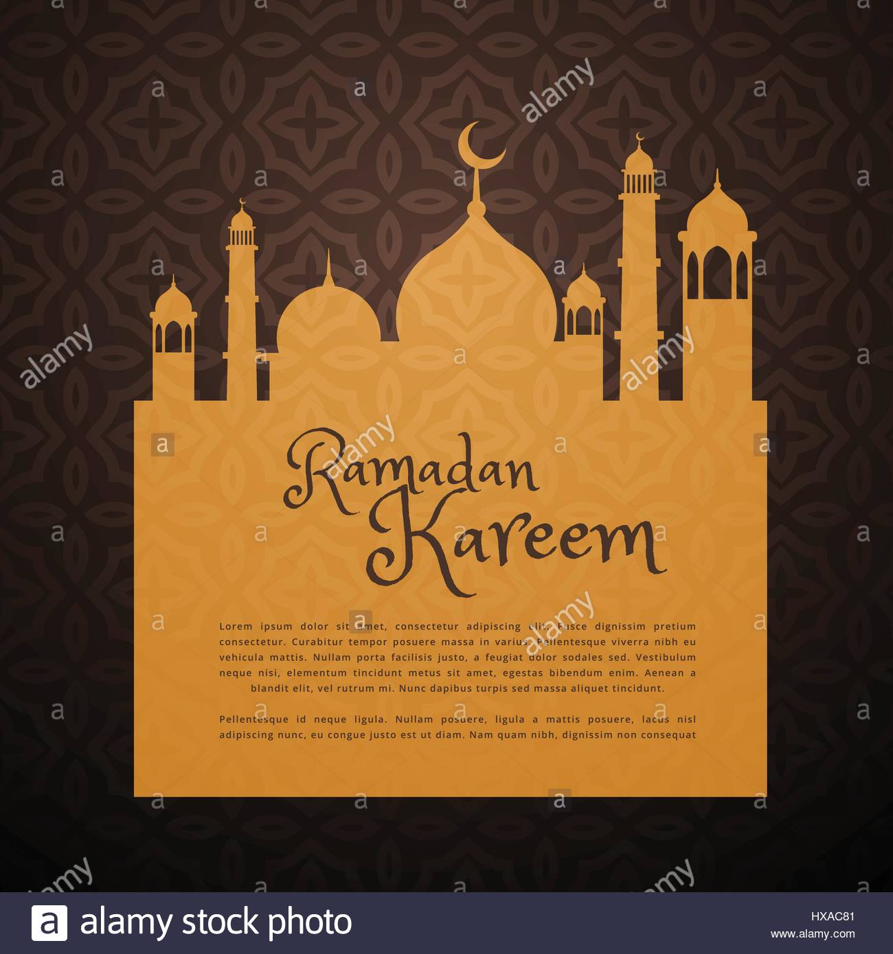 Ramadan greeting card with mosque silhouette stock vector art ramadan greeting card with mosque silhouette kristyandbryce Image collections