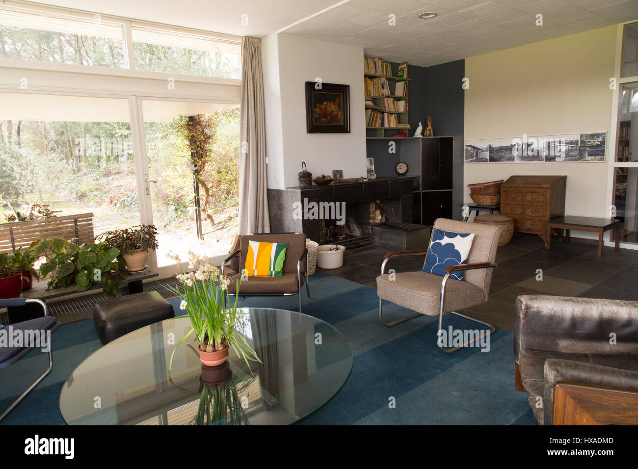 Living Room Of The Van Daalen House Designed By Gerrit Rietveld At Bergeijk In Netherlands Dates From 1958 And Is One Several