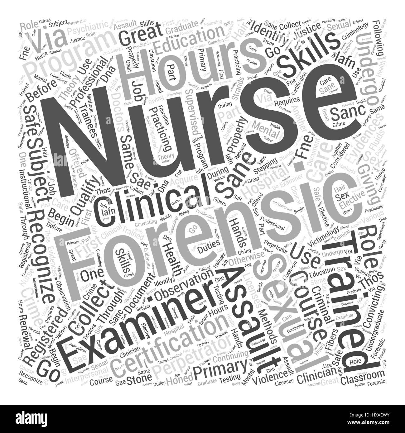 Forensic nursing certifications word cloud concept stock vector forensic nursing certifications word cloud concept xflitez Choice Image