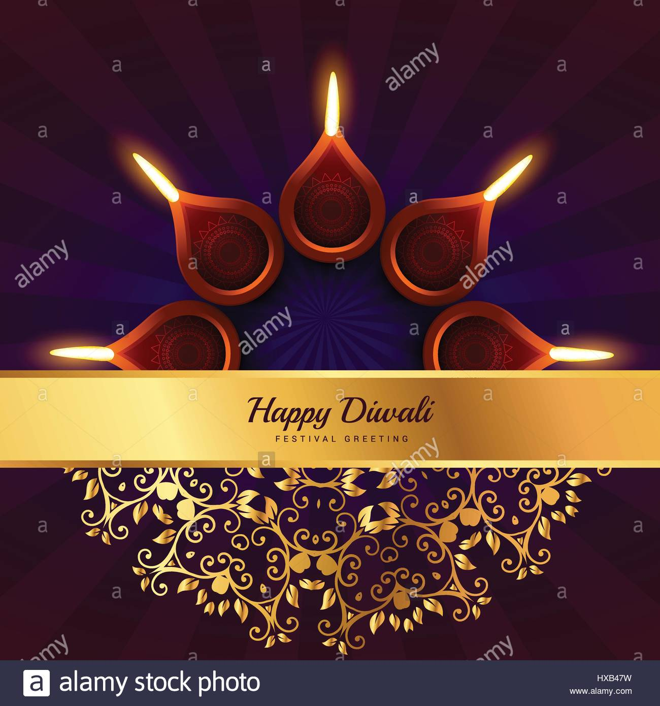 Colorful diwali greeting vector background stock photos colorful happy diwali greeting vector design background stock image kristyandbryce Image collections