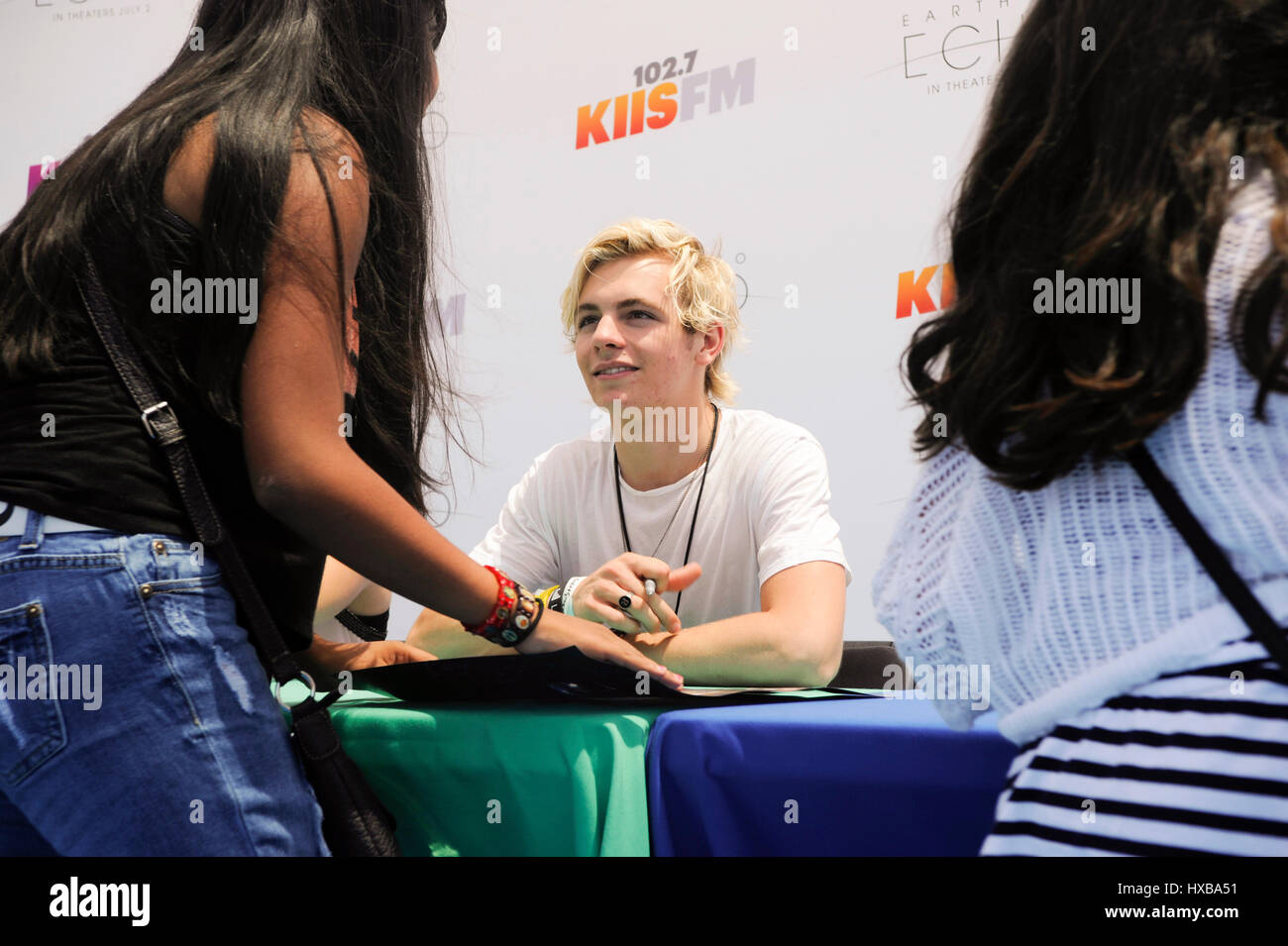 Ross lynch and r5 autograph signing booth for fans during 1027 kiis ross lynch and r5 autograph signing booth for fans during 1027 kiis fms 2014 wango tango at stubhub center on may 10 2014 in los angeles california kristyandbryce Gallery