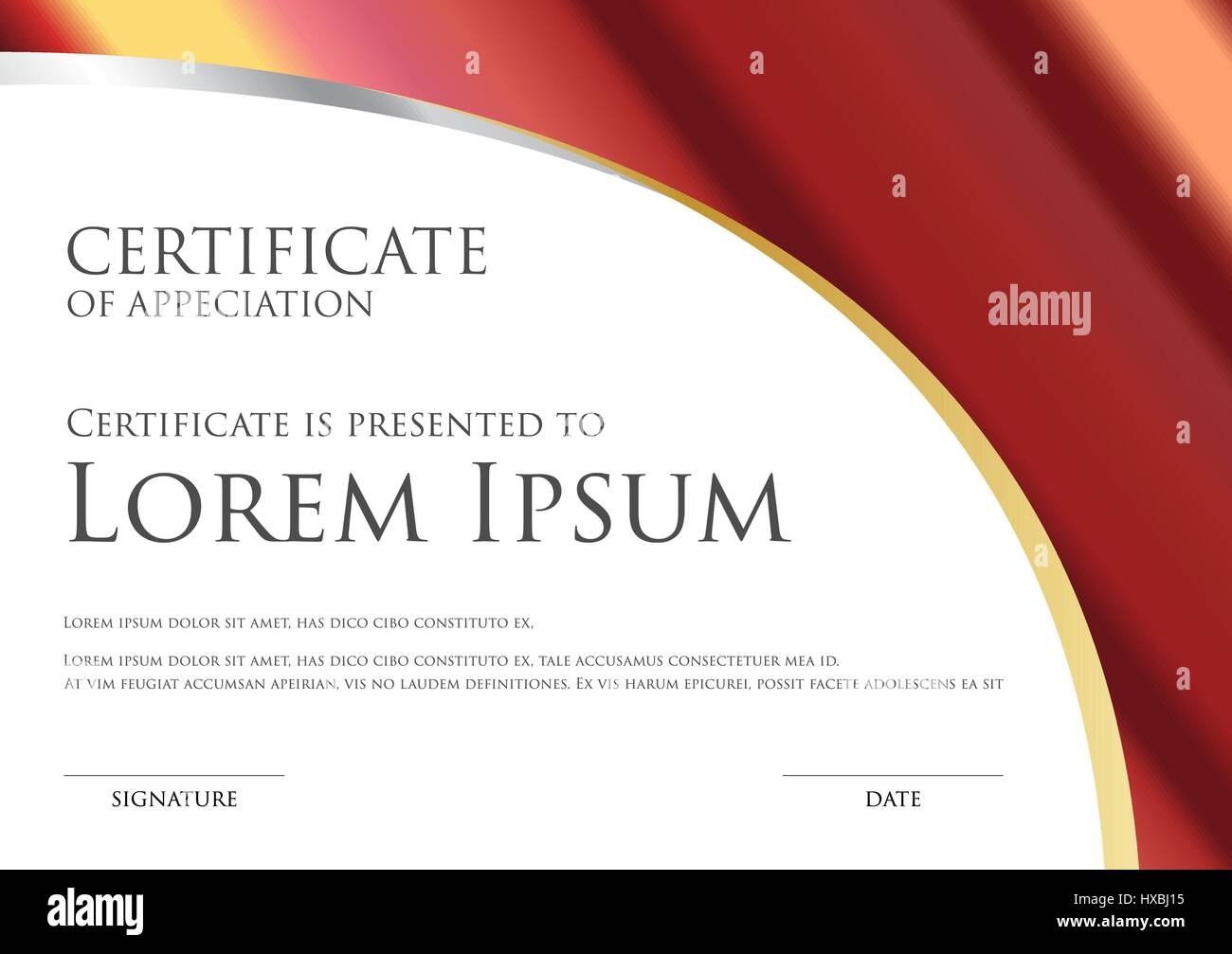 Simple certificate card template with metallic gradient stock simple certificate card template with metallic gradient yadclub Images