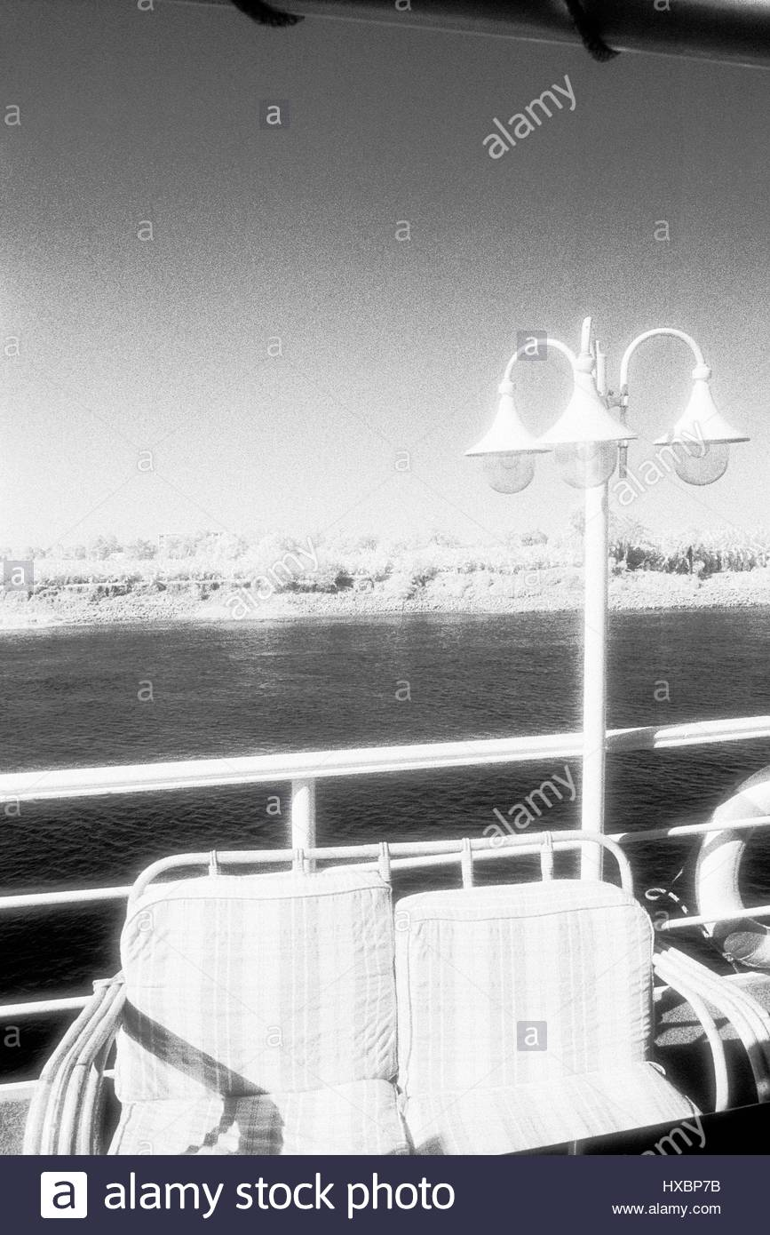 Water Lamps Egypt River Nile Cruise Deck Railings Deckchairs Lamps Water Infra