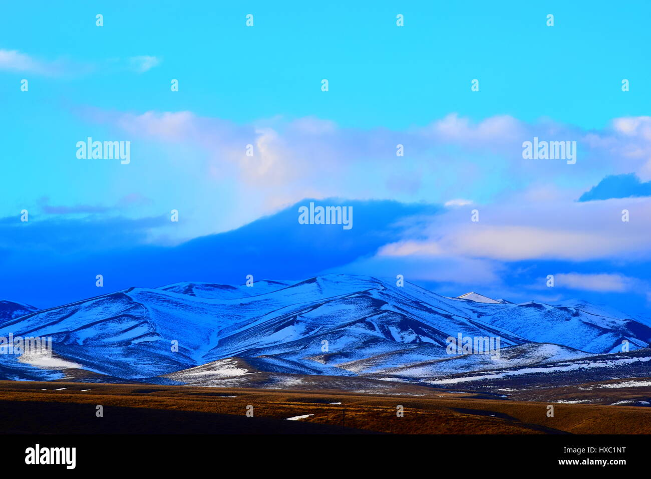 Snowy Idaho Mountains