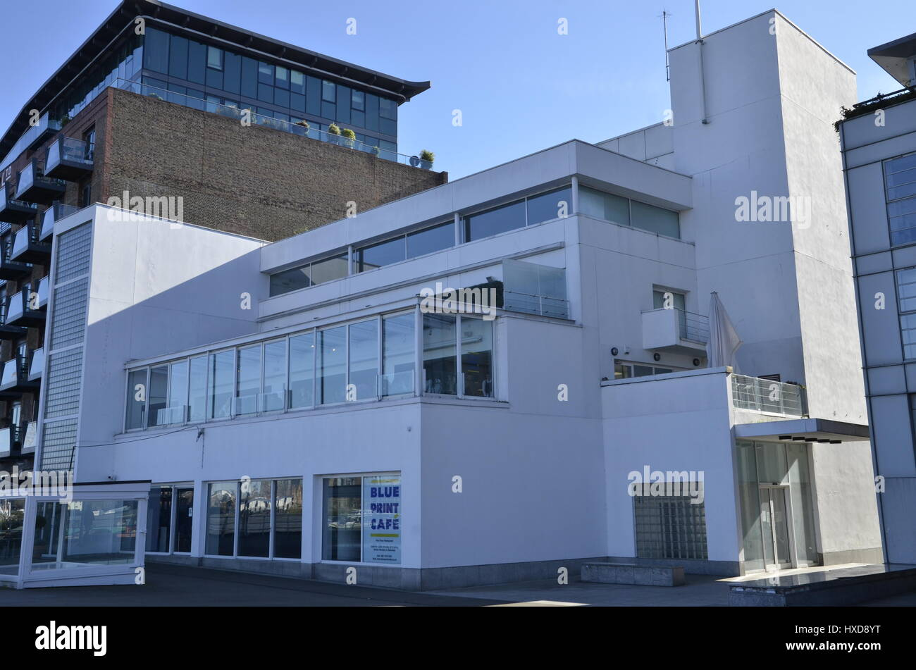 The blueprint caf and former design museum on the river thames in the blueprint caf and former design museum on the river thames in southwark london malvernweather Choice Image
