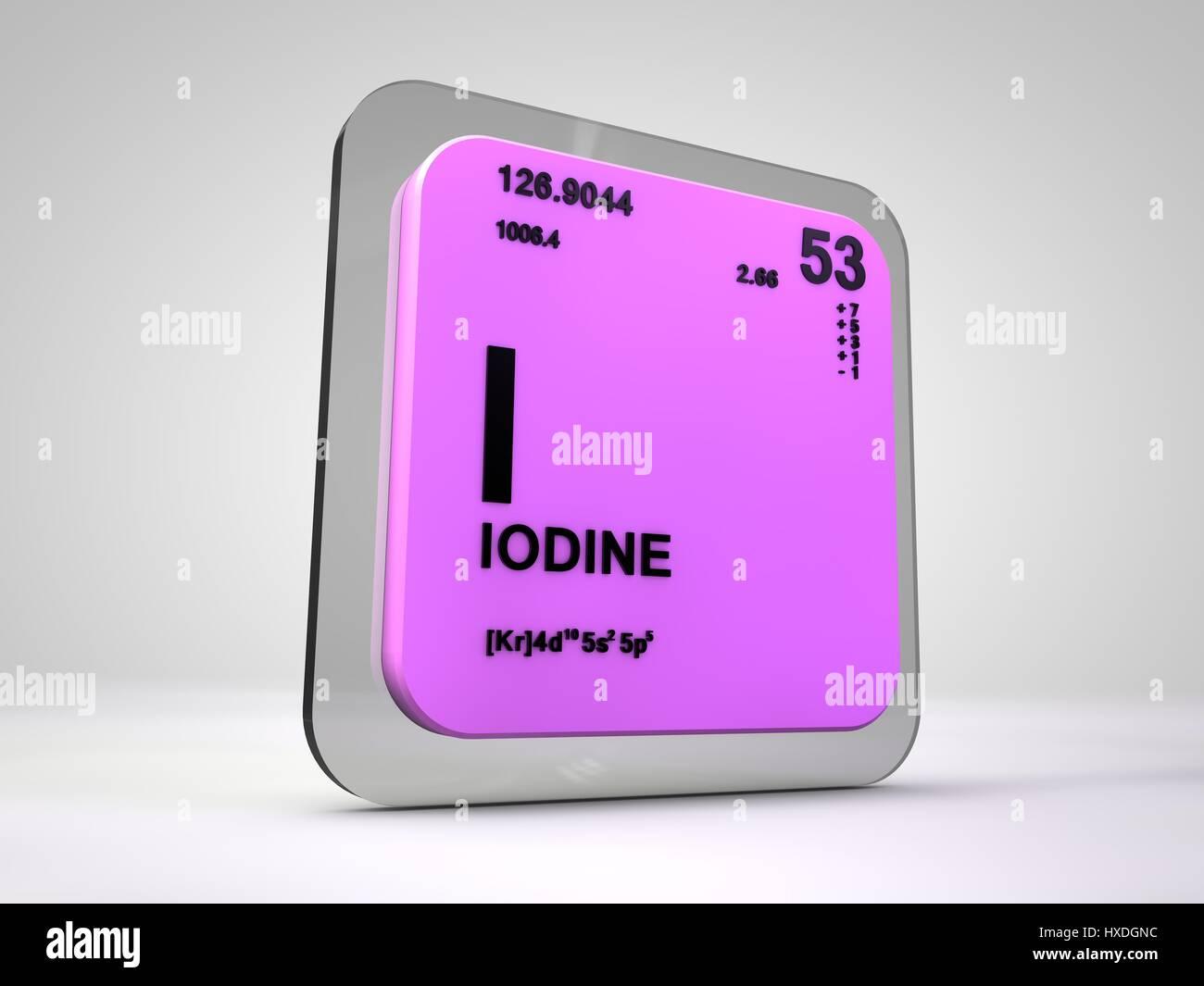 Iodine i chemical element periodic table 3d render stock photo stock photo iodine i chemical element periodic table 3d render gamestrikefo Choice Image