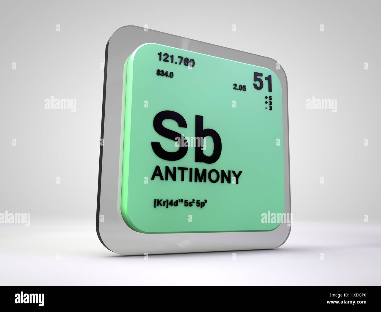 Antimony sb chemical element periodic table 3d render stock antimony sb chemical element periodic table 3d render gamestrikefo Images