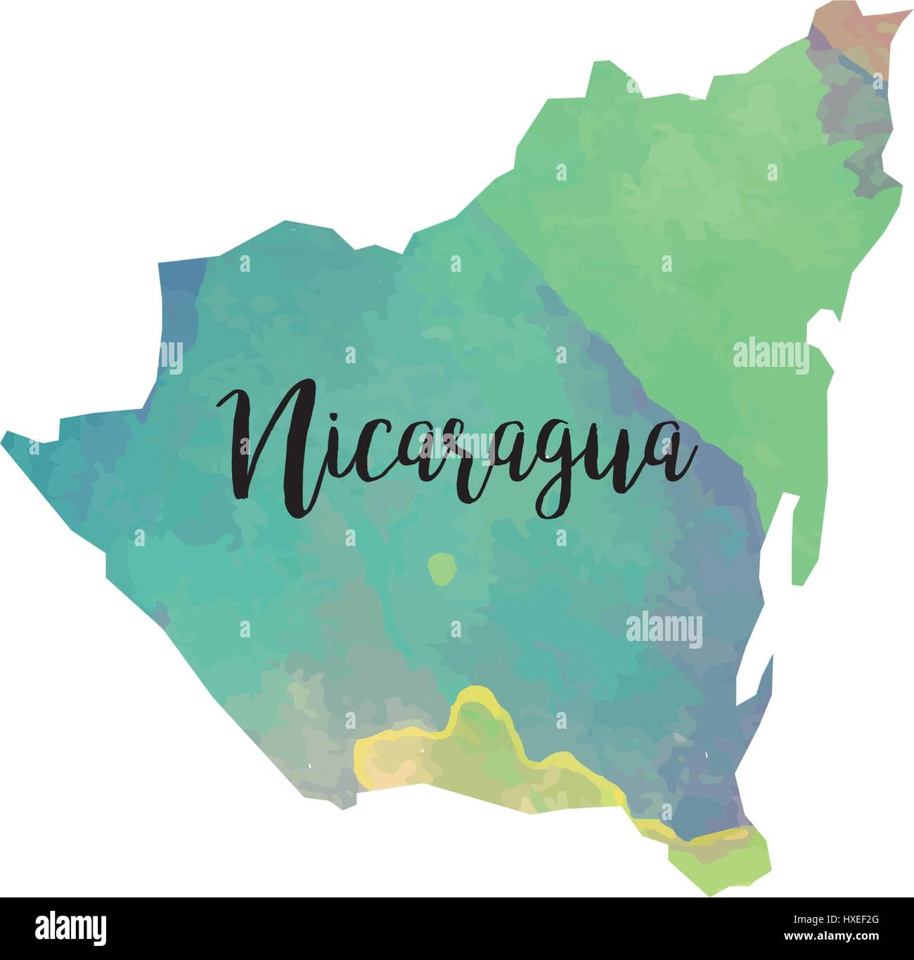 Abstract Nicaragua Map Stock Vector Art Illustration Vector - Where is nicaragua on the world map