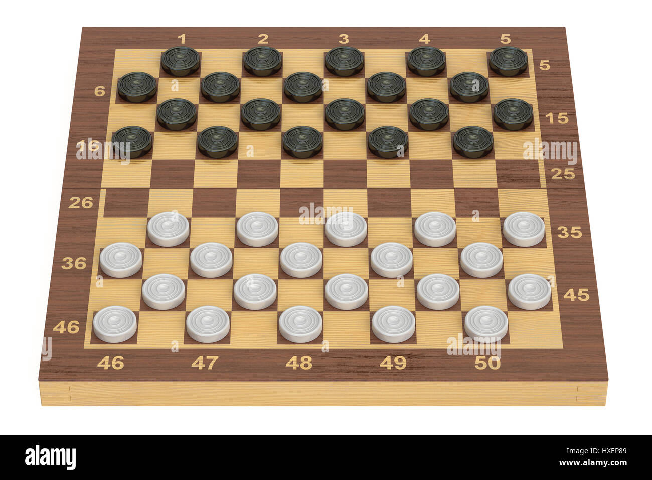 Chess Board Buy International Checkers Game Board And Pieces 3d Rendering