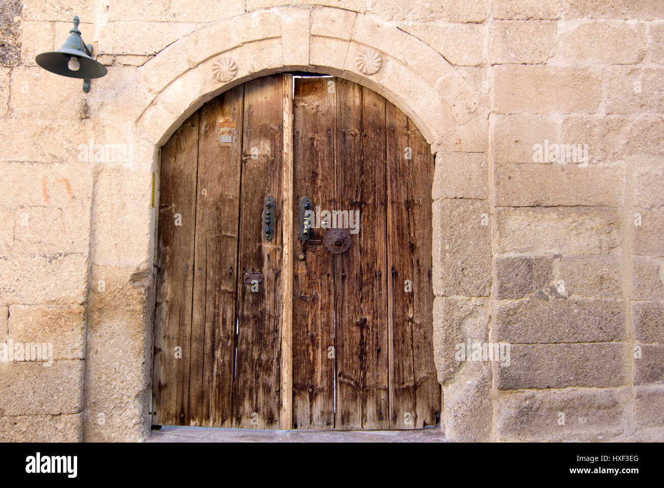 old ancient wooden castle door Stock Photo, Royalty Free Image ...