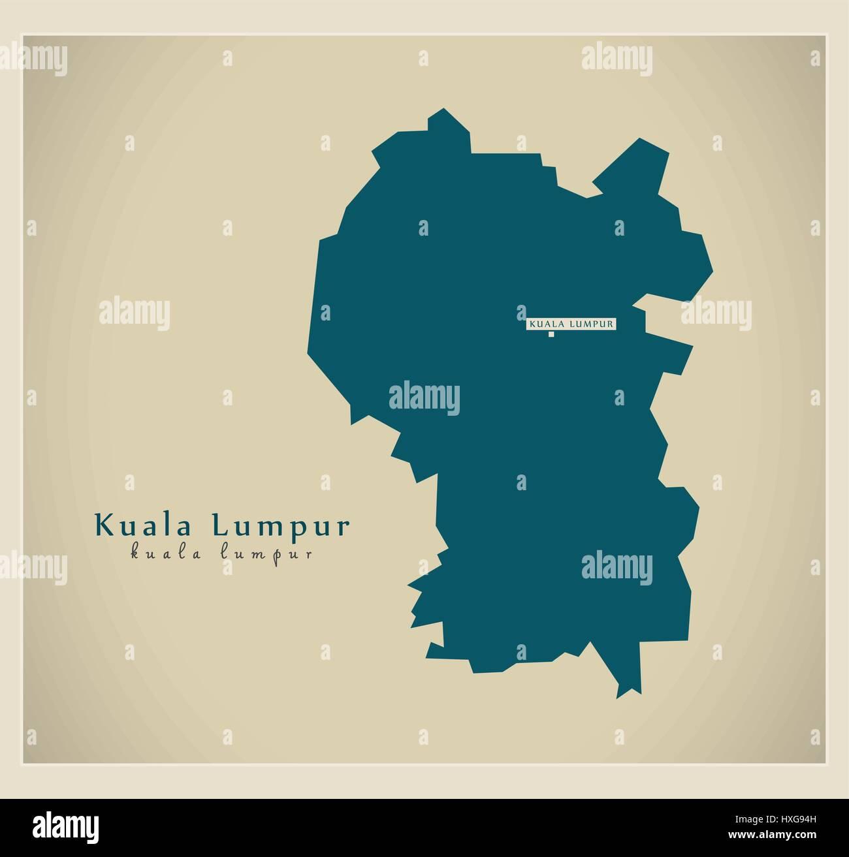 Kuala lumpur malaysia city map in retro style outline map vector modern map kuala lumpur my stock photo gumiabroncs Choice Image
