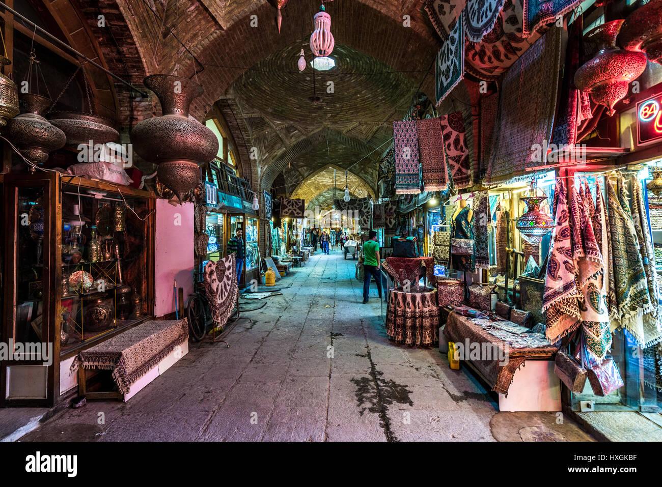 Shops On Bazaar Of Isfahan Next To Naqsh E Jahan Square