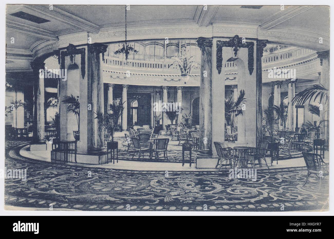 palace hotel madrid spain winter garden rotonda stock photo