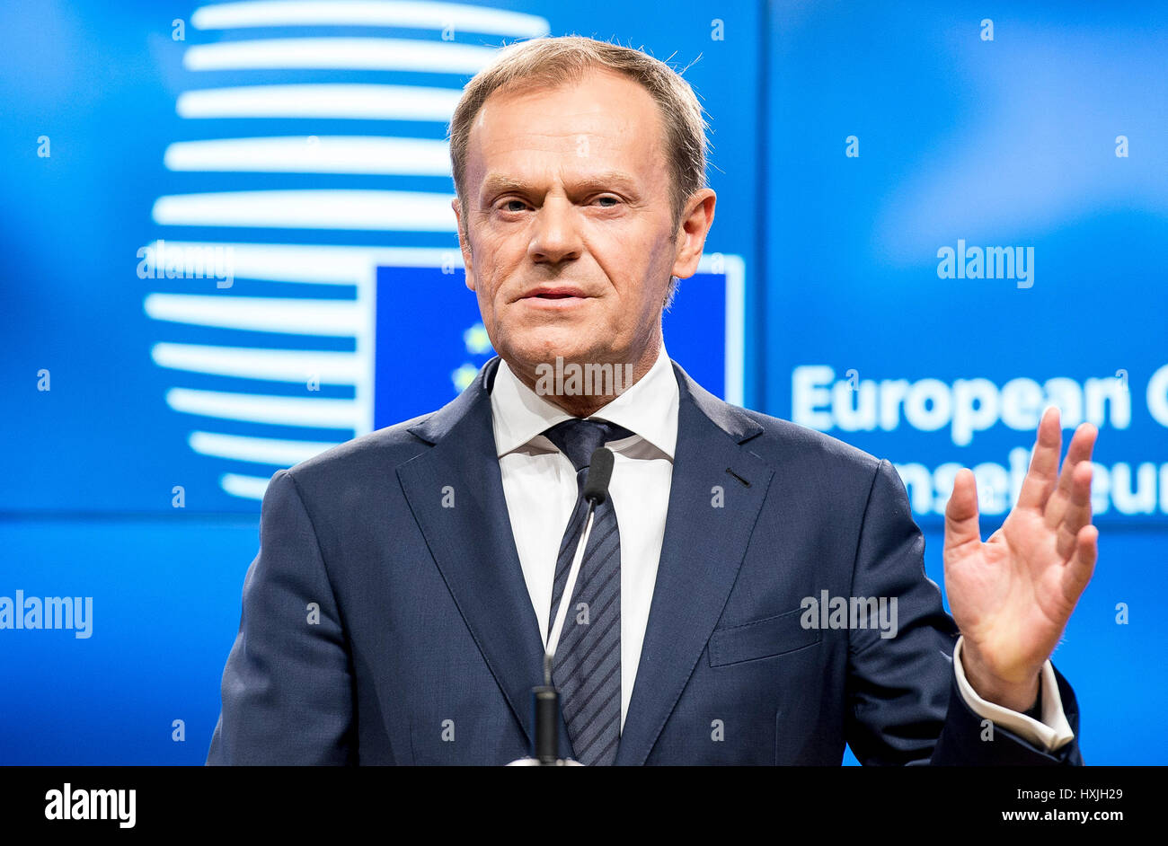 Brussels, Bxl, Belgium. 29th Mar, 2017. Donald Tusk, the president ...