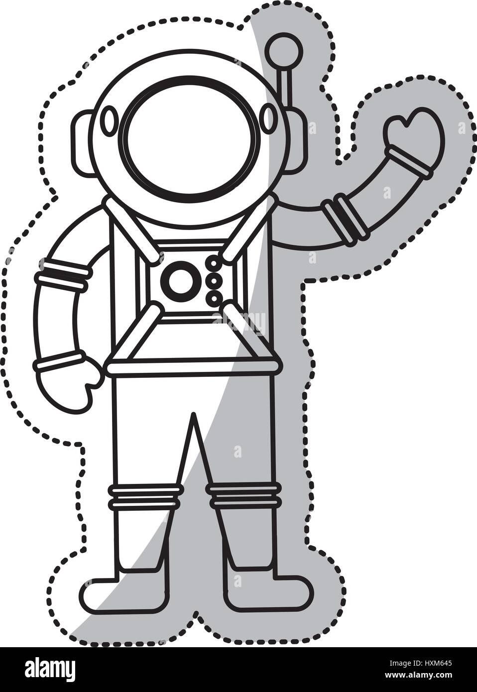 astronaut space suit helmet outline