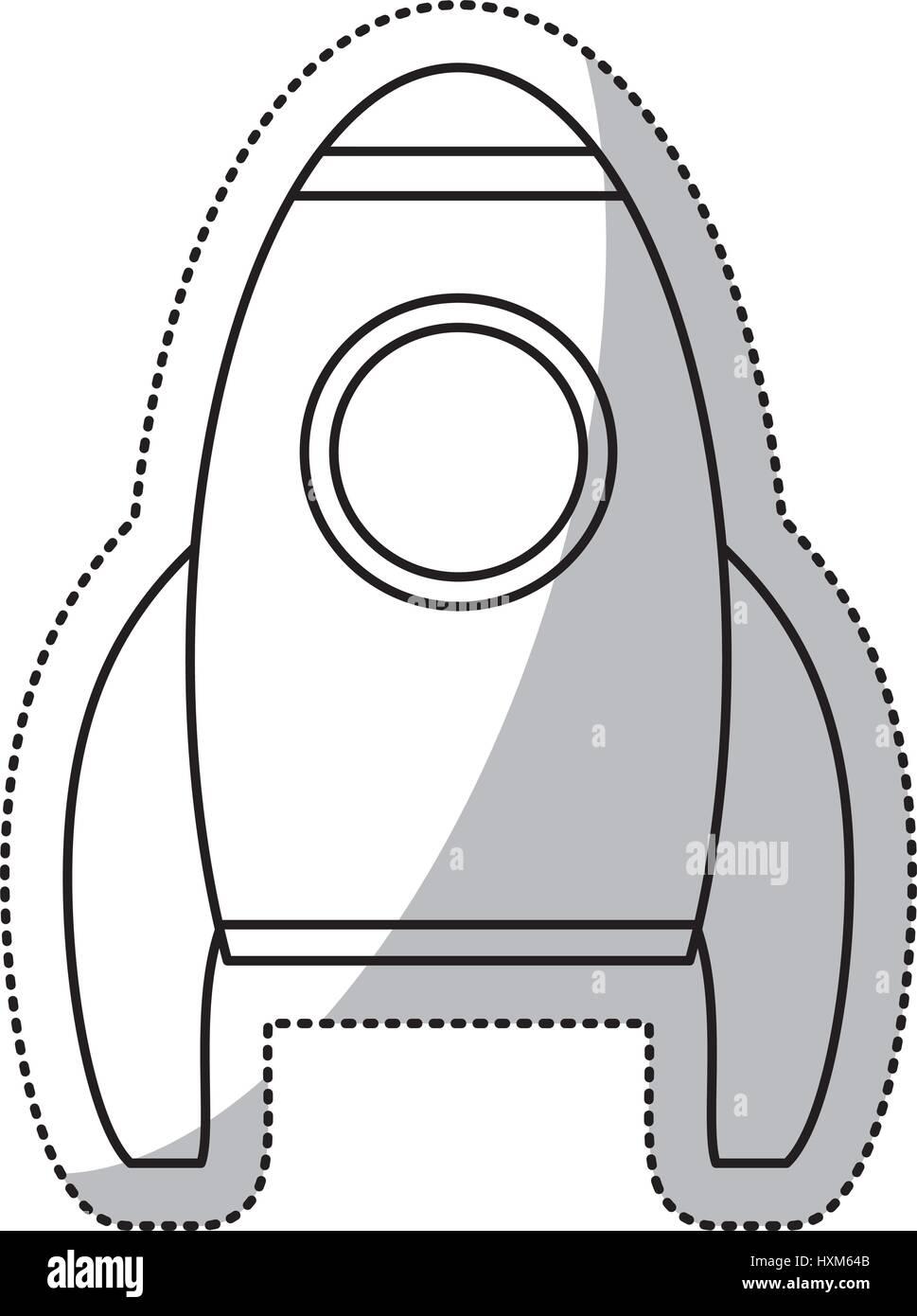 rocket transport space outline stock vector art u0026 illustration