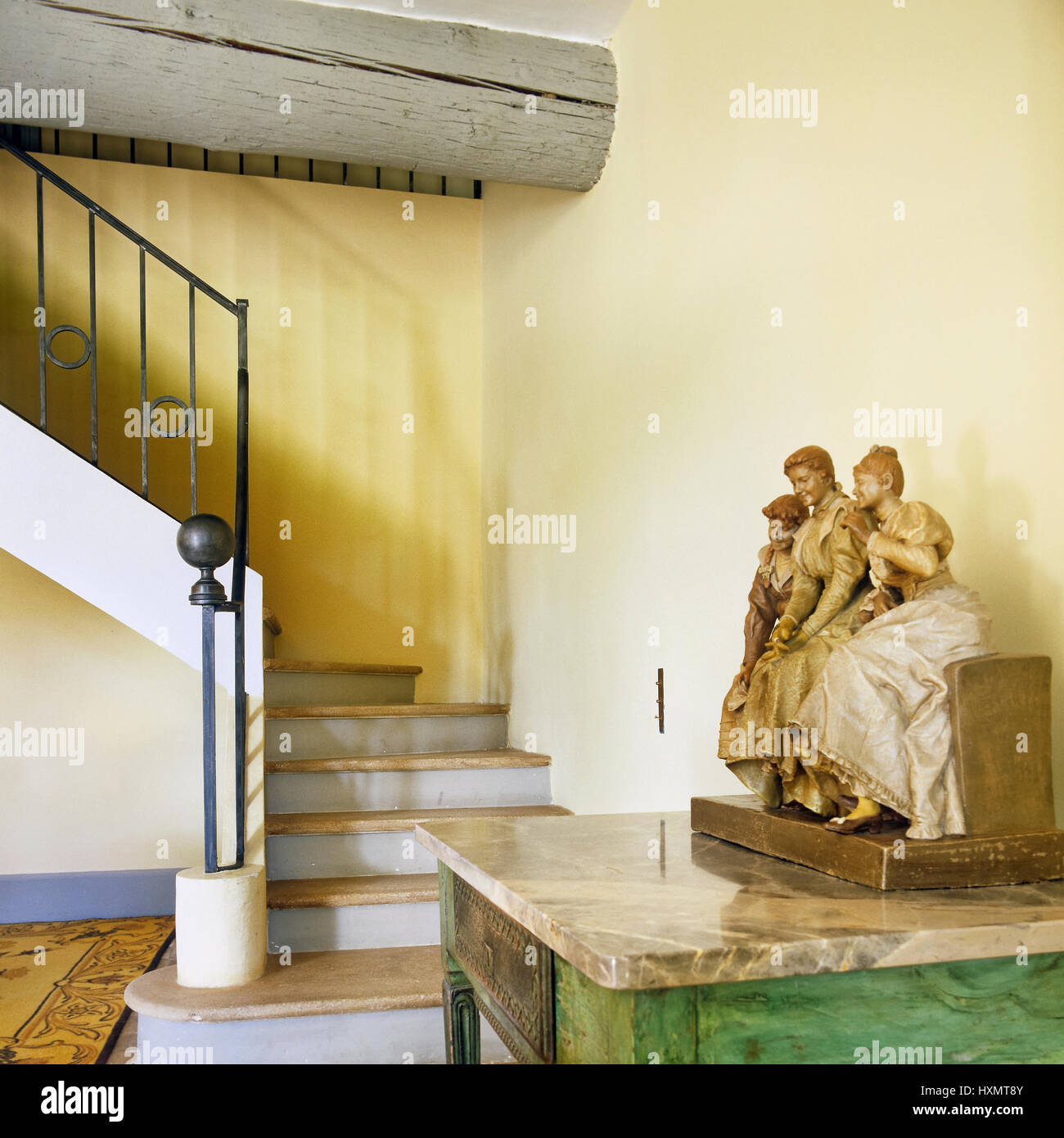 Side table and staircase Stock Photo: 136911739 - Alamy