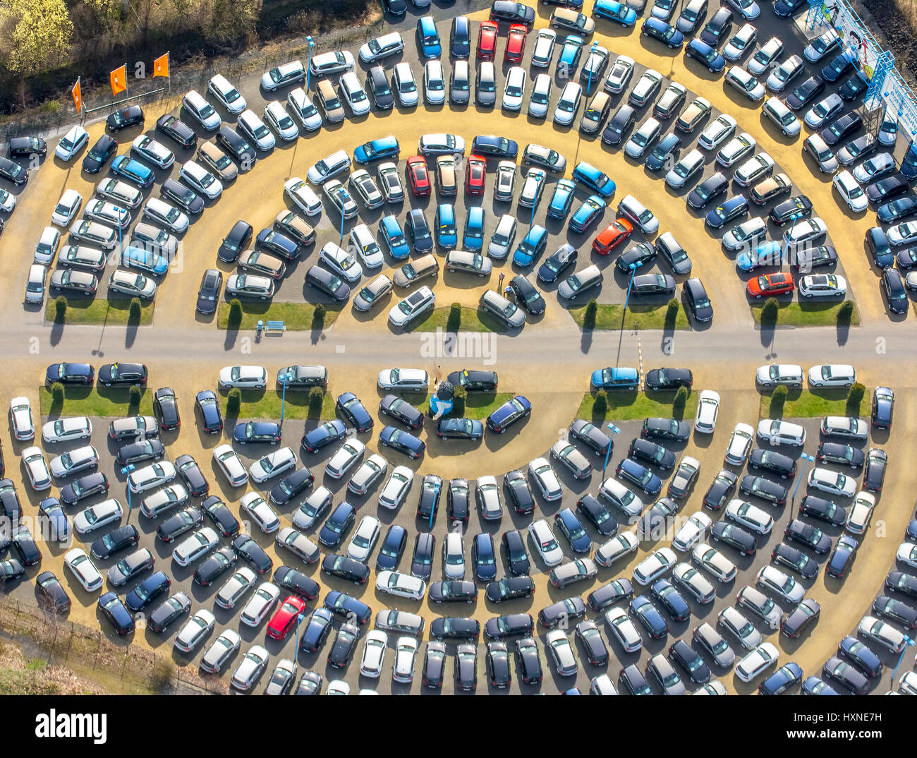 Round parking areas of autohaus potthoff hamm potti used car dealers internet autohandel car circle circular hamm ruhr area north rhine westph