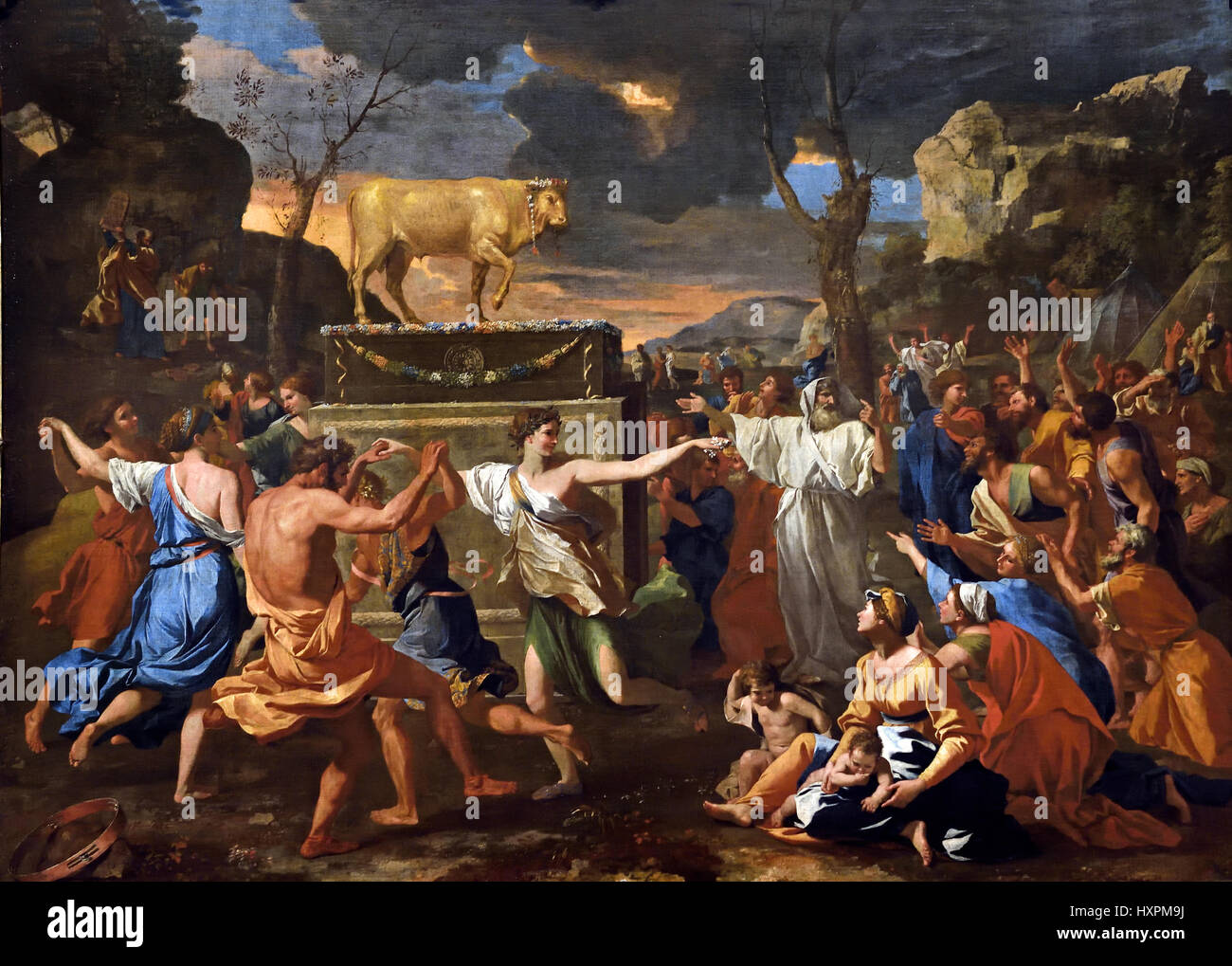 Free coloring page golden calf - The Adoration Of The Golden Calf 1633 Moses Climbed Mount Sinai To Receive The Tablets
