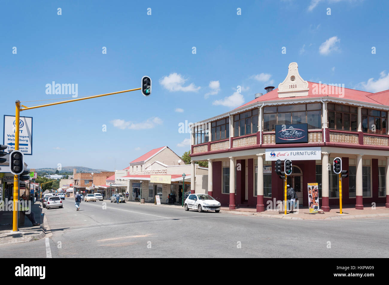 corner of voortrekker and jacobs streets heidelberg gauteng stock photo royalty free image. Black Bedroom Furniture Sets. Home Design Ideas