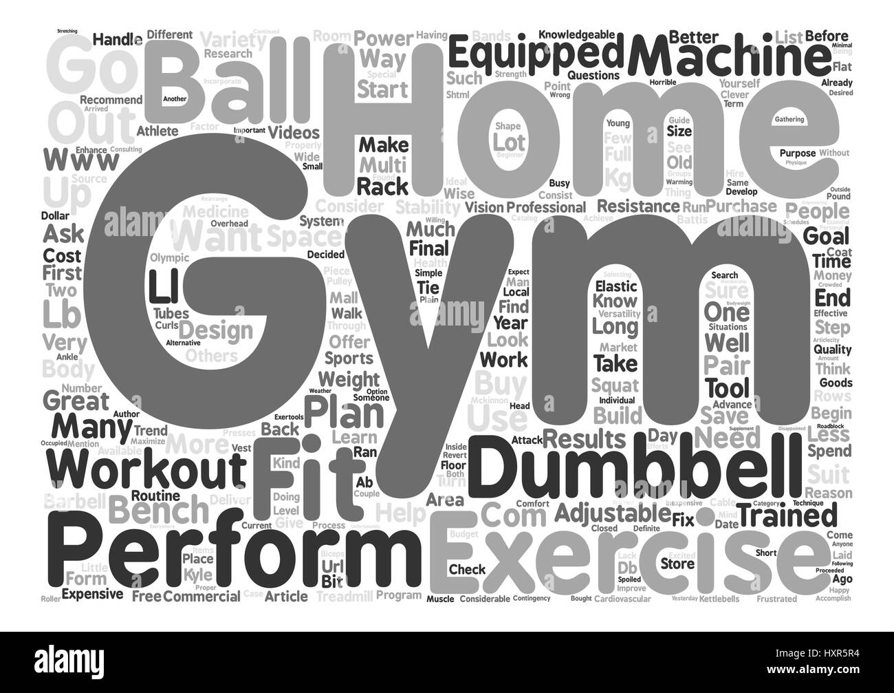 So You Want To Build A Home Gym You Want To Build A Home Gym Text  Background Word Cloud Concept