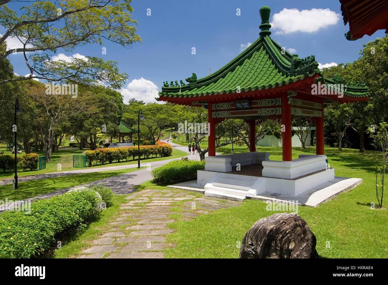 chinese and japanese garden in singapore, asia (no pr, Hause und garten
