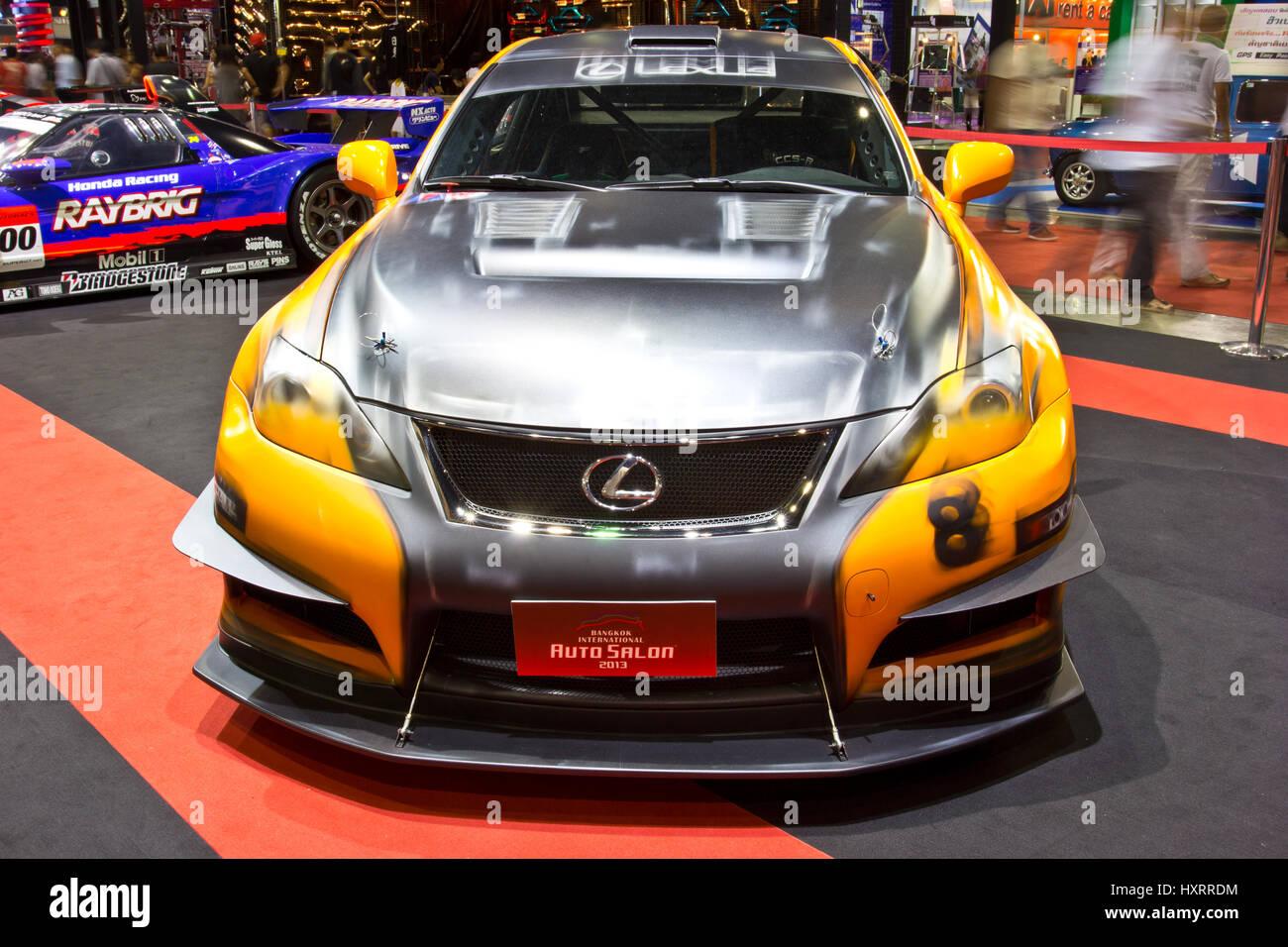Bangkok june 23 lexus is f show at the second bangkok international auto salon