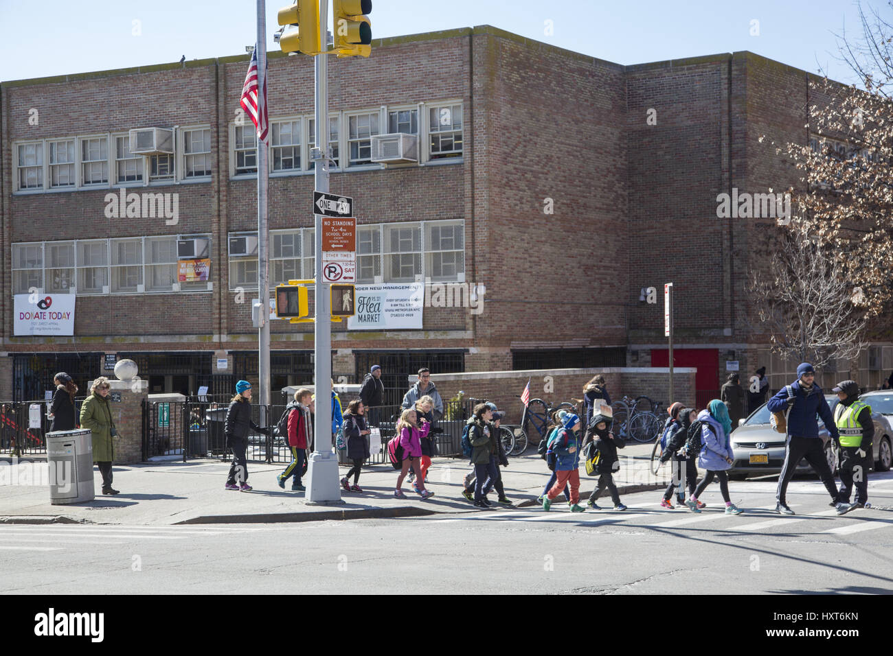 Children Going Home After School From PS 321 A Popular Elementary In The Park SLope Neighborhood Of Brooklyn NY