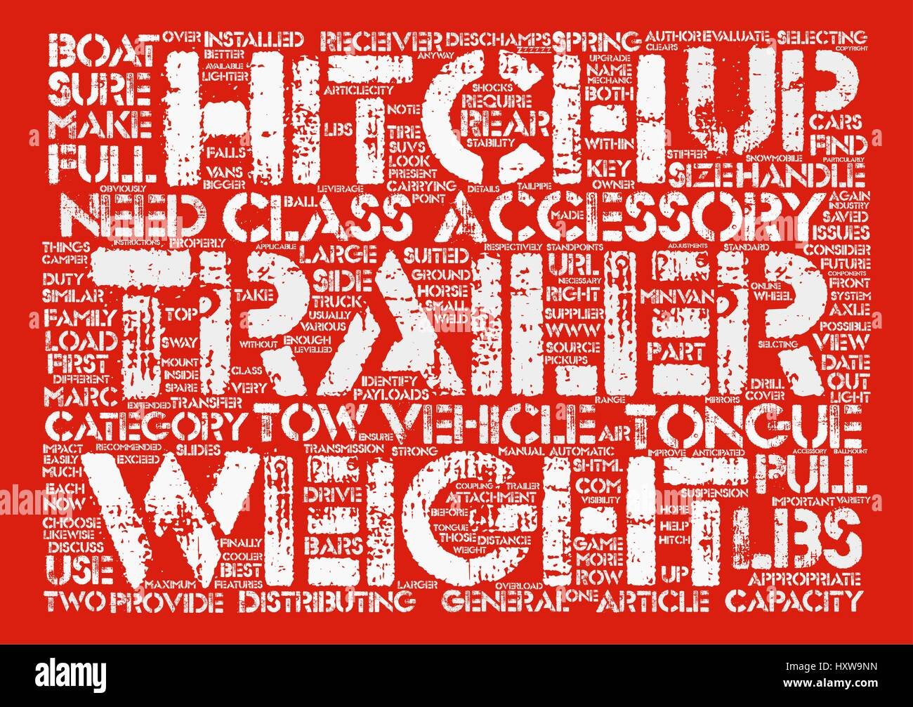 how to choose the right trailer hitch accessory text background