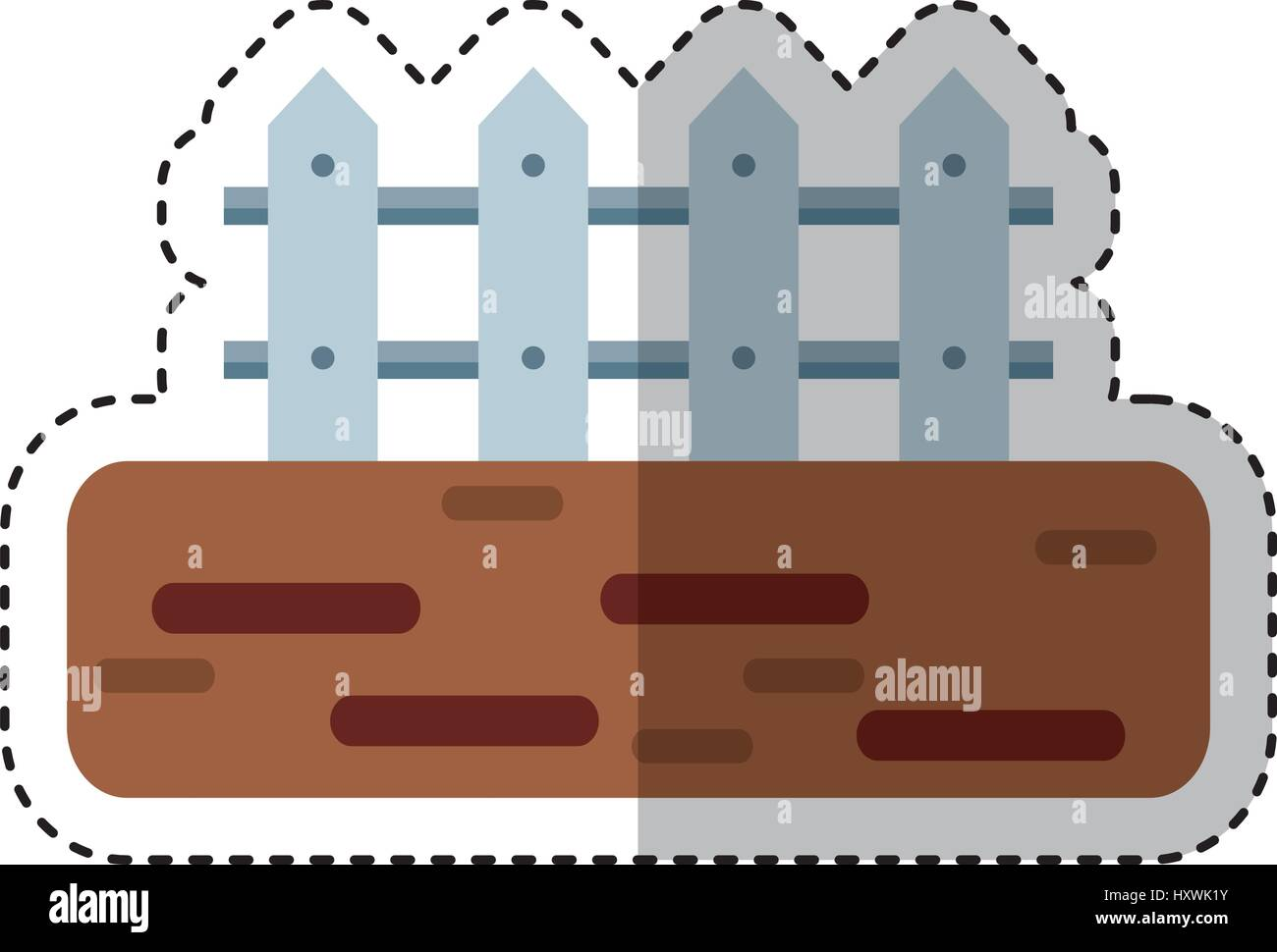 Farm Fence Clipart farm fence isolated icon vector illustration design stock vector
