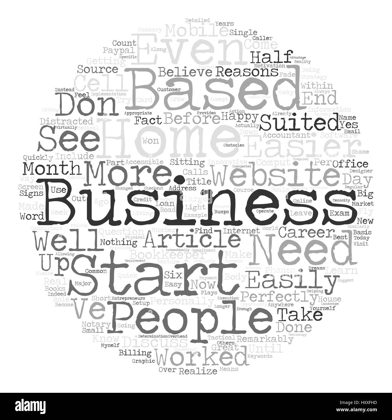 Start A Home Based Business text background word cloud concept ...