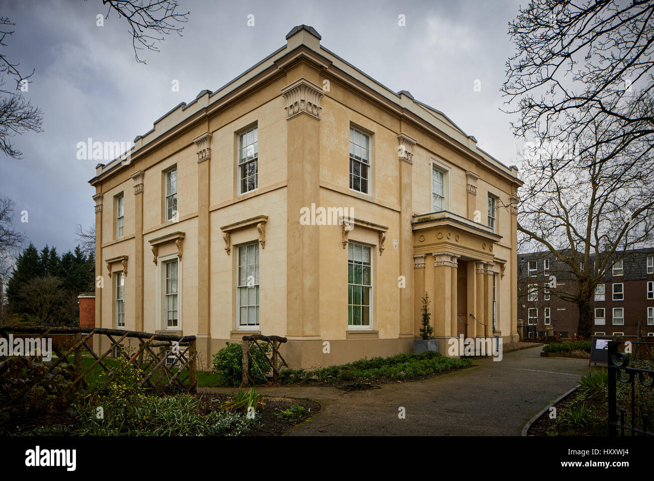 exterior elizabeth gaskell u0027s house grade ii listed neoclassical