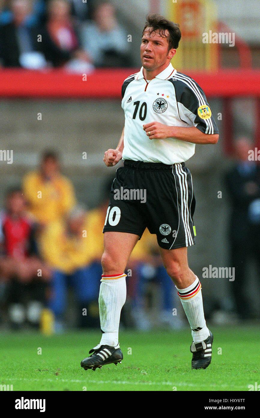 LOTHAR MATTHAUS GERMANY & BAYERN MUNCHEN FC 12 June 2000 Stock