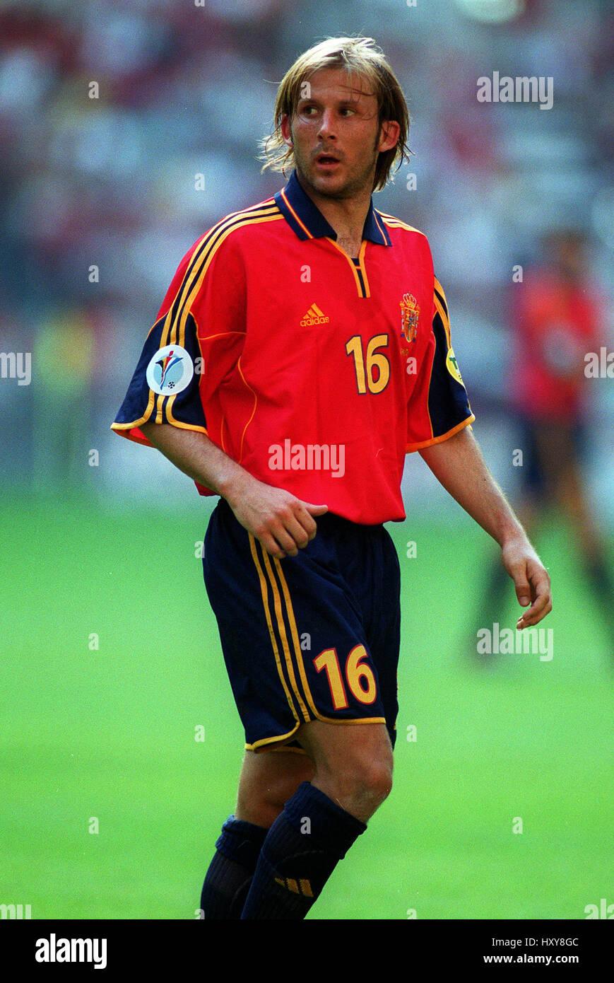 GAIZKA MENDIETA SPAIN CHARLEROI EURO 2000 18 June 2000 Stock