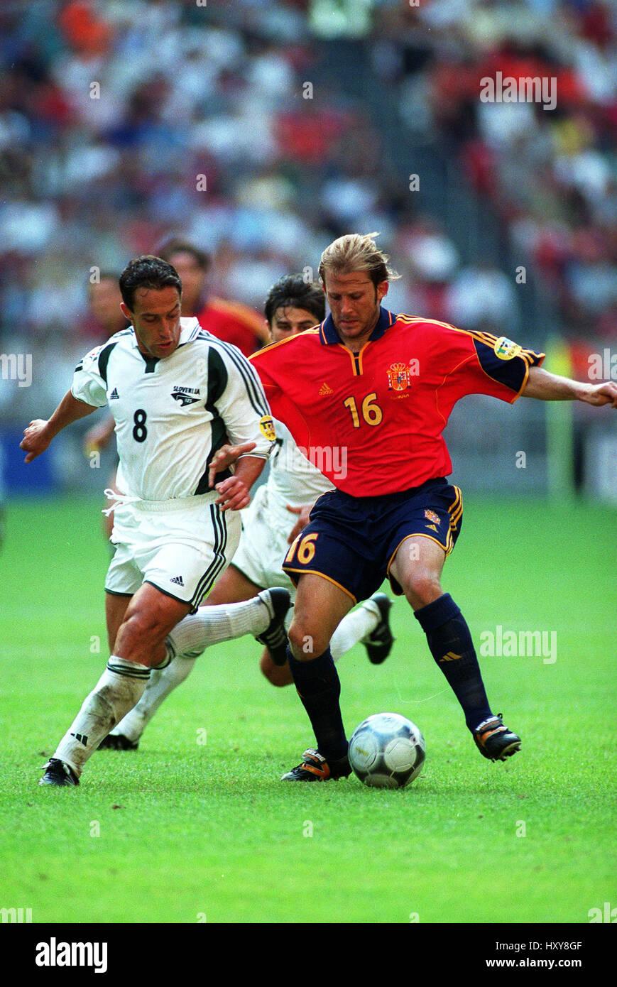 ALES CEH & GAIZKA MENDIETA SLOVENIA V SPAIN CHARLEROI EURO 2000 20