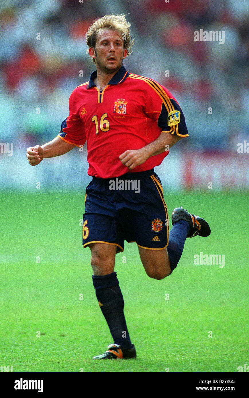 GAIZKA MENDIETA SPAIN CHARLEROI EURO 2000 20 June 2000 Stock