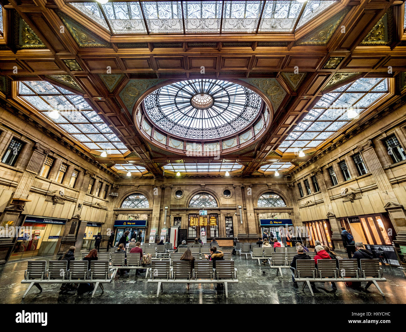Edinburgh waverley station restored ticket office with for Office design edinburgh