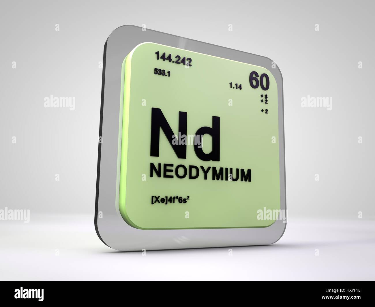 Neodymium nd chemical element periodic table 3d render stock neodymium nd chemical element periodic table 3d render gamestrikefo Choice Image