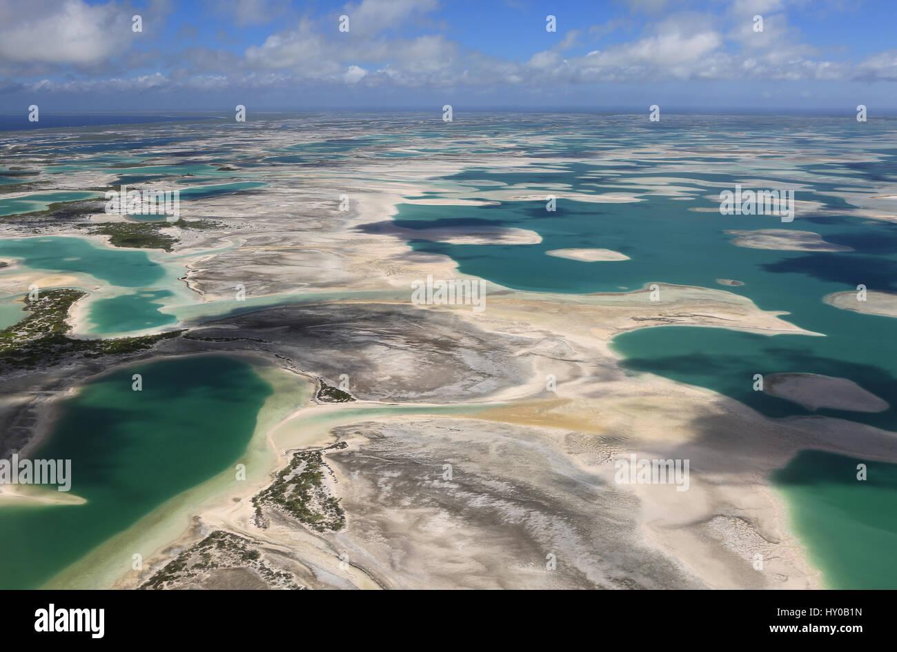 Aerial view of Christmas Island (Kiritimati), Kiribati Stock Photo ...