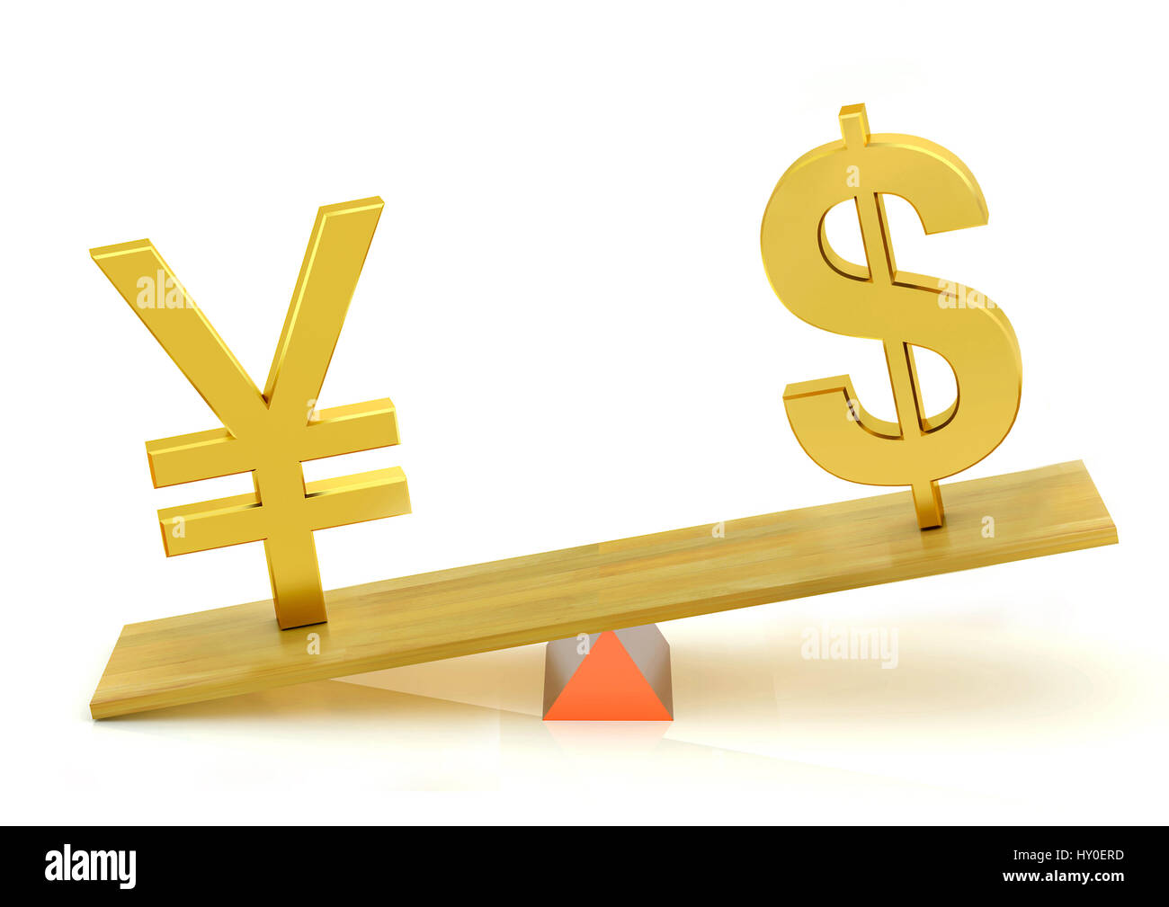 Balancing Japanese Yen And Dollar India Asia Stock Photo Royalty