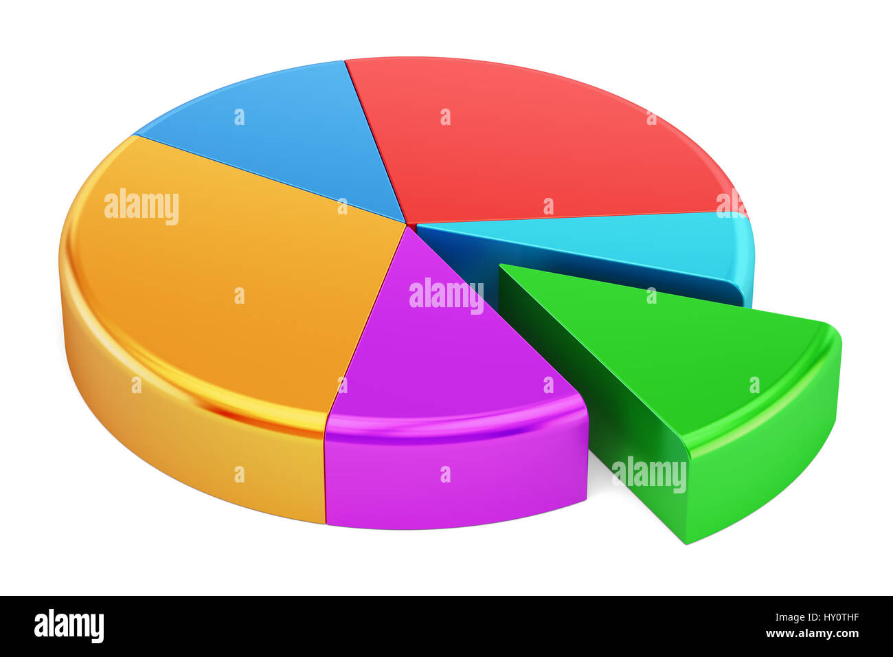 Colored pie chart 3d rendering isolated on white background stock colored pie chart 3d rendering isolated on white background nvjuhfo Gallery